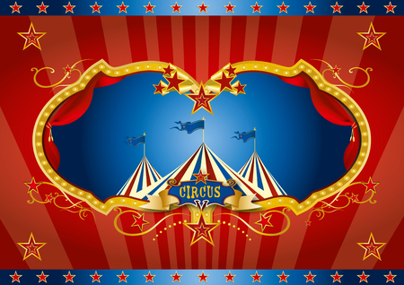 A red background circus for a screen