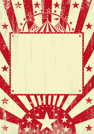 A grunge circus poster for you with a empty frame for your message