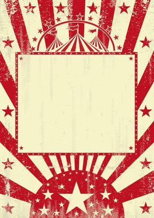 Ein grunge Zirkus Poster für Sie mit einem leeren Rahmen für Ihre Nachricht Standard-Bild - 98205070
