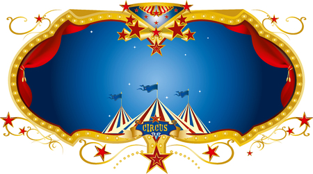 A circus concept border illustration.