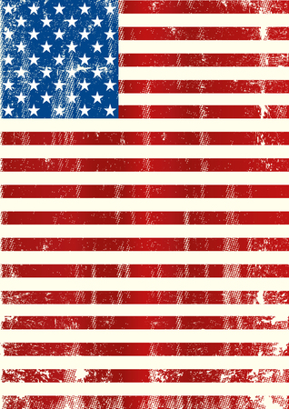 A grunge american flag