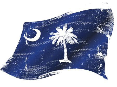 South Carolina flag in the wind
