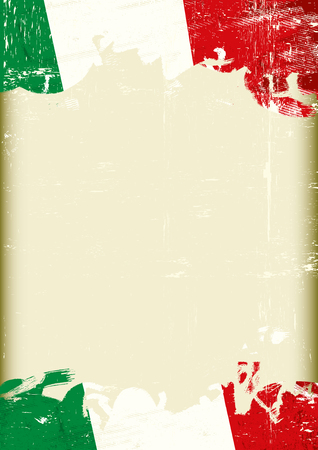 A grunge italan background with a large frame for your message Illustration