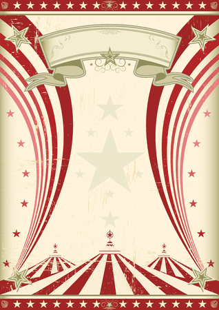 circus vintage poster for your advertising.