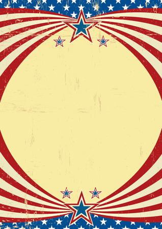 A grunge american poster with a frame for your message Illustration