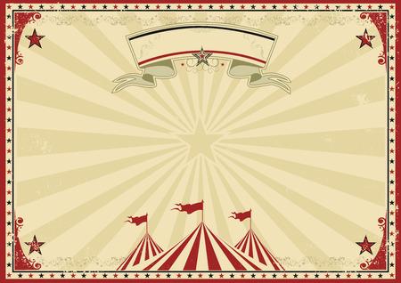 een circus vintage poster voor uw reclame. Vector Illustratie