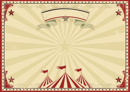 un cartel vintage de circo para su publicidad. Ilustración de vector