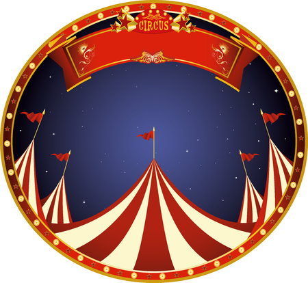 a sticker on circus theme for you Illustration