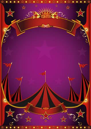 A circus purple poster with a big top for you.