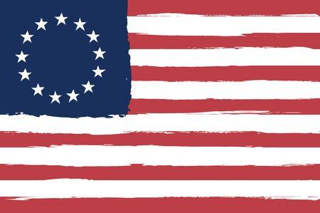 Un drapeau de betsy ross en train de dessiner pour vous Vecteurs