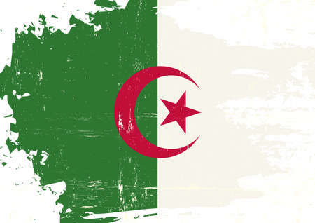 A grunge flag of algeria for you