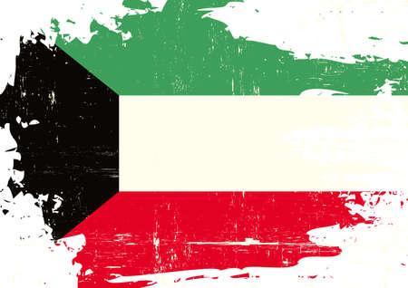A grunge flag of Kuwait for you Illustration