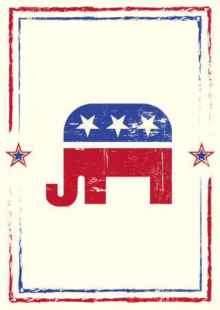 A poster with a texture of the republican party for your meeting
