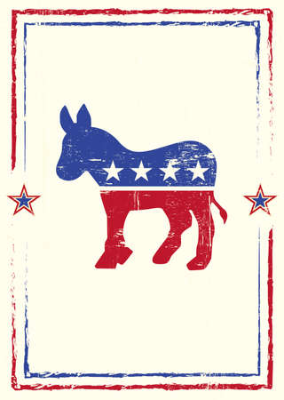A poster with a texture of the democrat party for your meeting Ilustração