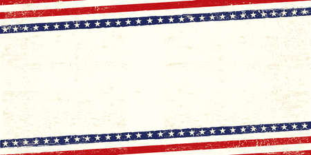 An american postcard for you with a large empty space for your text Ilustração