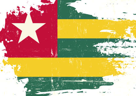 Grunge flag of Togo with a texture