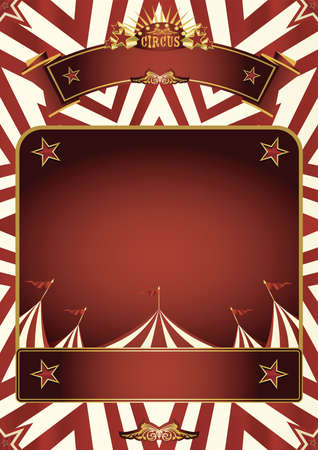 A circus background for a poster with a frame for your message.