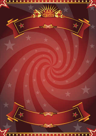 A red circus background for a poster with a vortex for your message!