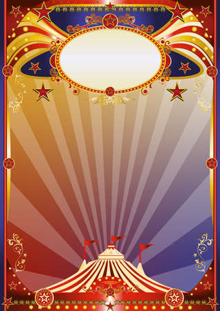A multicolor circus background for a poster. Welcome to the show!