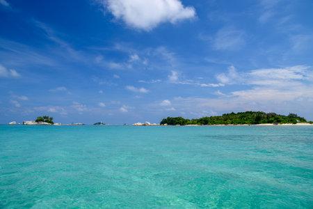 tropical island in Belitung Imagens
