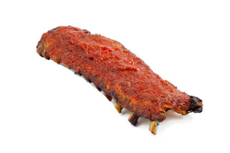BBQ Rib pork spicy and honey grilled isolated on white background