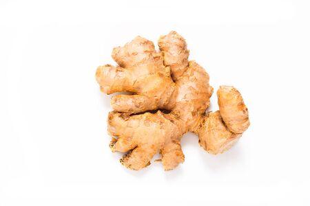 Organic Ginger on white background