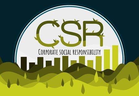 Vector design Template Marketing Strategy for Corporate social responsibility presentation year plan