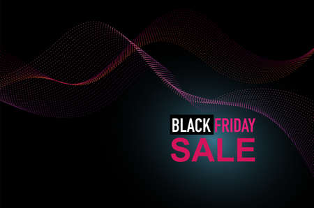 Vector design black friday sale promotion pink and black color for shopping, sale promotion, commerce and advertising