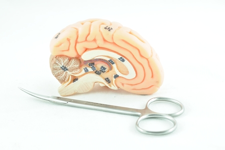 healthcare costs: brain and medical instrument