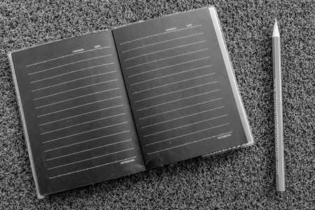 note book with back and white color Banco de Imagens
