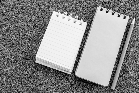 note book with back and white color Stock Photo - 120542288