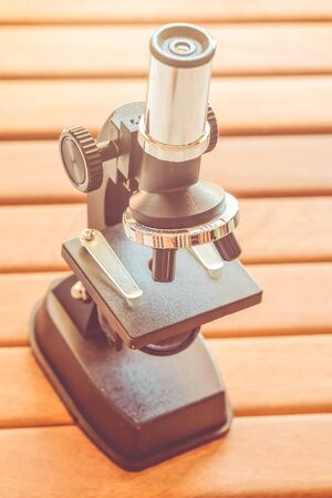 microscope with vintage color