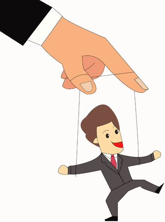 Businessman on Strings, Puppet  Vector
