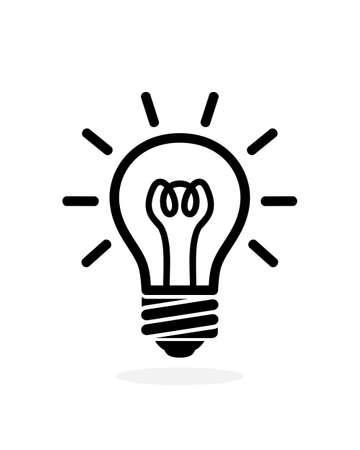 light bulb outline icon. Vector logo bulb isolated on white background Logo
