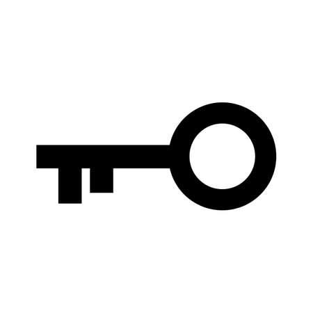 key icon isolated on white background. vector illustration