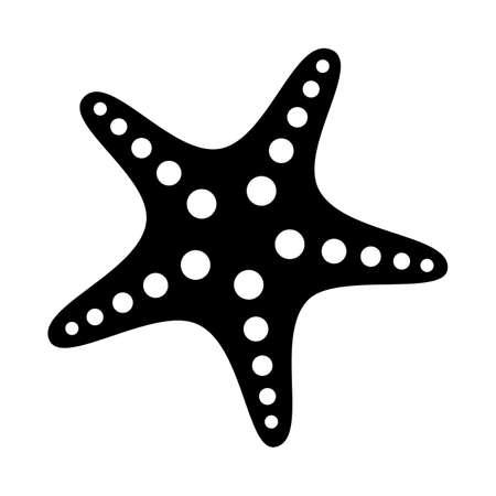 Starfish icon in flat style. vector illustration.