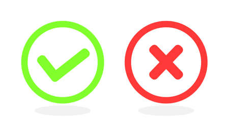 Checkmark icon for web and app. Vector illustration.