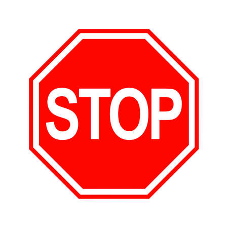 Stop Sign isolated on white background. Vector illustration