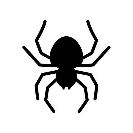 Spider vector icon. Black spider silhouette. Vector illustration