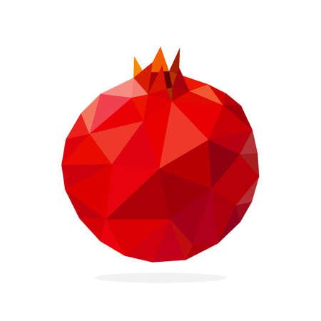pomegranate polygon art image. vector illustration Vetores