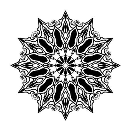 Illustration vector graphic of coloring mandala background perfect to background, logo, card, weeding, etc