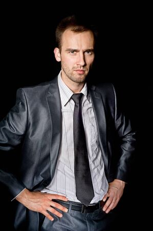 bussines: young handsome confident businessman