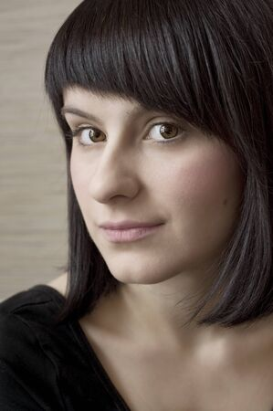 artistic portrait of a young woman, close up Standard-Bild
