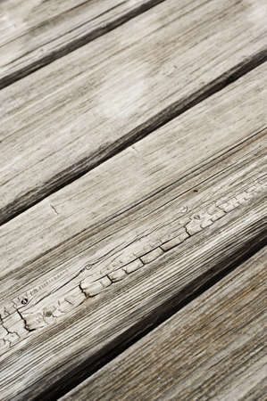 old cracked wooden boards in close up