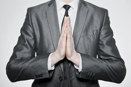 hands of businessman set in pray