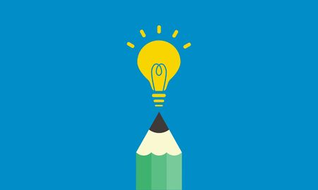 writing image,pencil and light,vector illustration Imagens - 136511751