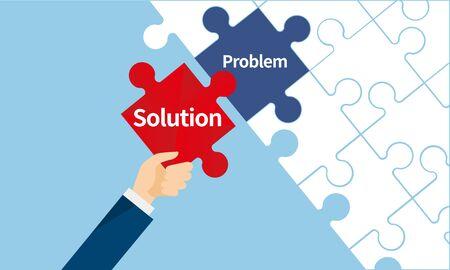Solution et problème image,puzzle,business,vector illustration