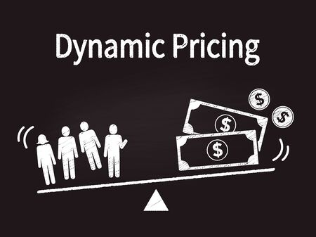 businessimage,hand drawing dynamic pricing image on blackborad