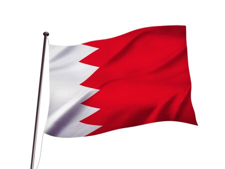 bahrain flag fluttering in the wind,3D illustration Imagens - 139626842