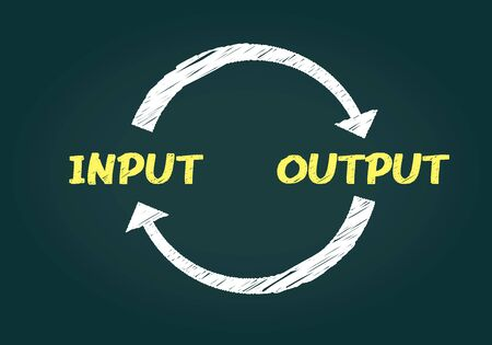 Hand Drawing input and output image,vector
